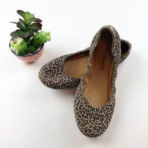 Lucky Brand Emmie Ballet Flats Cheetah Print 7.5